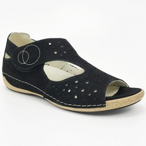 Rieker 64457 91, damskie sandały na platformie, tęgość G
