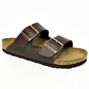 Arizona BF klapki Birkenstock 0051701 dark brown, regular fit