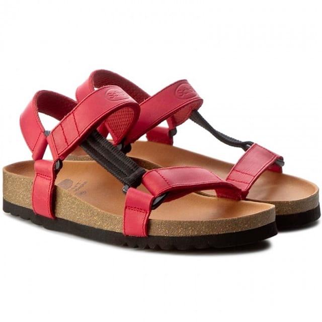 8e82d5f778f9c Zdrowotne wygodne sandały Heaven Scholl [czerwone] wąska stopa buty ...